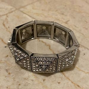 Evening wear inspired Rhinestone Bangle